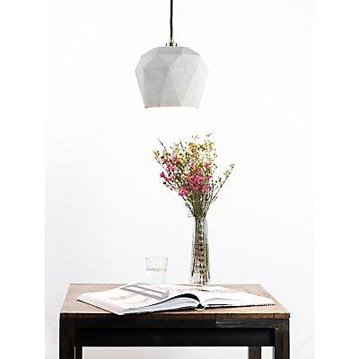 GANTlights Hängelampe aus Beton mit Innenbeschichtung, 17,5 cm