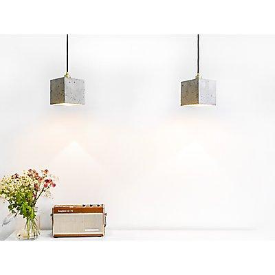 GANTlights Hängelampe aus Beton mit Innenbeschichtung, 14 cm