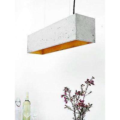 GANTlights Pendellampe aus Beton mit Innenbeschichtung, dunkelgrau, gold