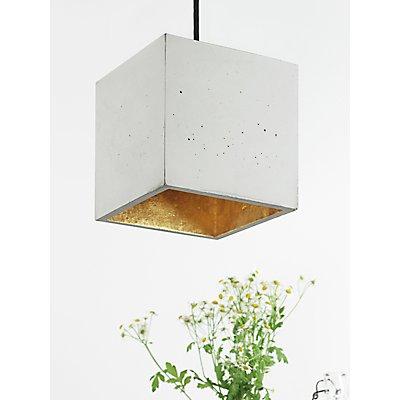 GANTlights Hängelampe aus Beton mit Innenbeschichtung, 18 cm