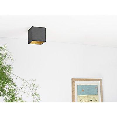 GANTlights Deckenspot aus Beton mit Innenbeschichtung