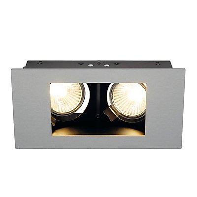 INDI REC 2S Downlight, recht-eckig, mattweiss, GU10,2x max. 35W, schwenkbar