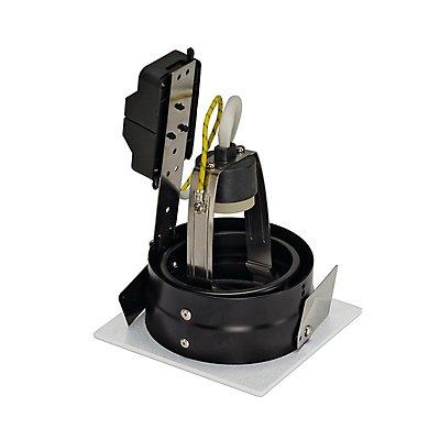 INDI REC 1S Downlight eckig, GU10, max. 50 Watt, kardanisch