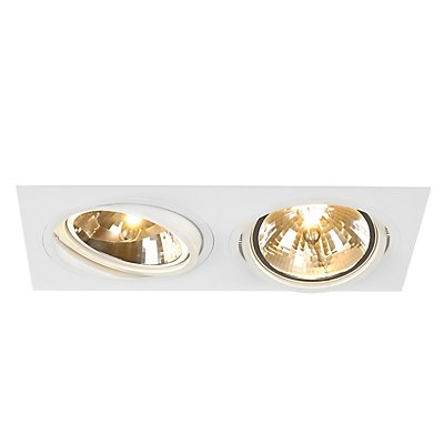 NEW TRIA QRB111 SQUARE Einbau-leuchte, schwarz,max. 2x75W, inkl. Clipfedern