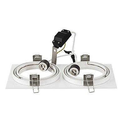NEW TRIA ES111 SQUARE Einbauleuchte, GU10, max. 2x75 Watt, inkl. Clipfedern