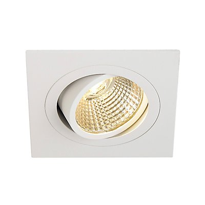 NEW TRIA DL SQUARE Set Downlight, 6 Watt,38°,2700K, inkl. Treiber und Clipfedern