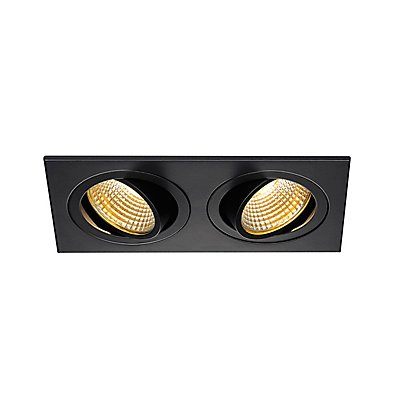 NEW TRIA II LED DL SQUARE Set, 2x6 Watt, 38°, 2700K, inkl. Treiber und Clipfedern