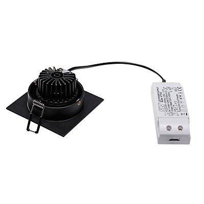 NEW TRIA LED DL SQUARE Set Downlight, 6 Watt, 38°,3000K, inkl. Treiber und Clipfedern