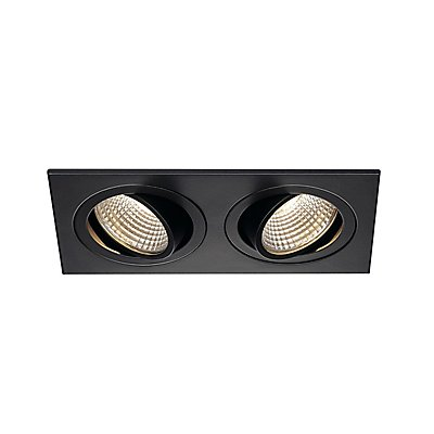 NEW TRIA II LED DL SQUARE Set, 2x6 Watt, 38°, 3000K, inkl. Treiber und Clipfedern