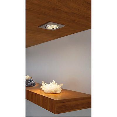 NEW TRIA LED 3 Watt DL SQUARE Set, Downlight, 38°,3000K, inkl. Treiber, Clipfeder