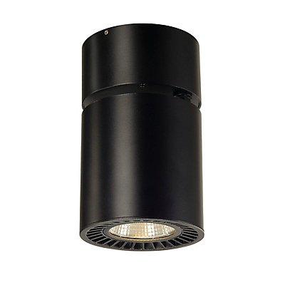 SUPROS CL Deckenleuchte,rund, schwarz, 3000lm, 3000K,SLM LED, 60° Reflektor