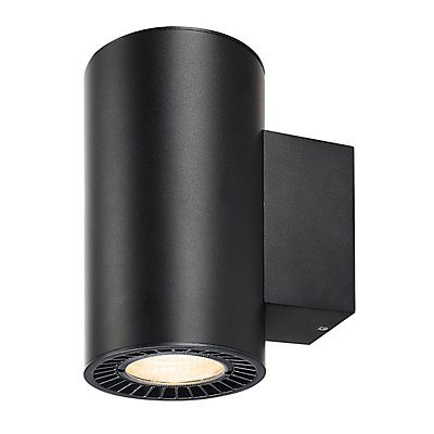SUPROS WALL Up/Down, rund, schwarz, 3000K, SLM LED, 60° Reflektor