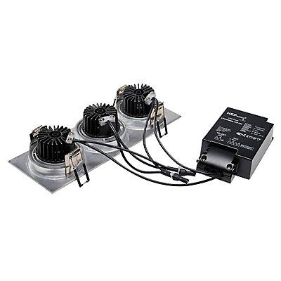 NEW TRIA 3 DL SQUARE Set, 3x6 Watt, 38°, inkl. Treiber, Clipfedern