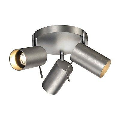 ASTO TUBE 3 ROUND, Wand- und Deckenleuchte, runde Rosette, 3 x GU10, max. 75 Watt