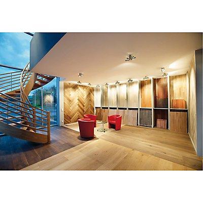 TEC KARDA 2 Wand- und Decken-leuchte, silbergrau, 2xQRB111,max. 50W