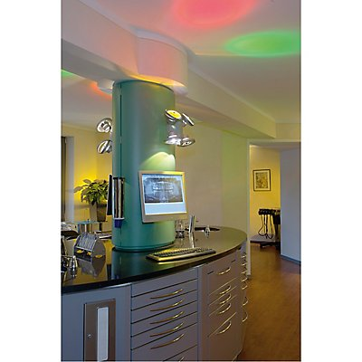 TEC KARDA 4 Wand- und Decken-leuchte, silbergrau, 4xQRB111,max. 50W