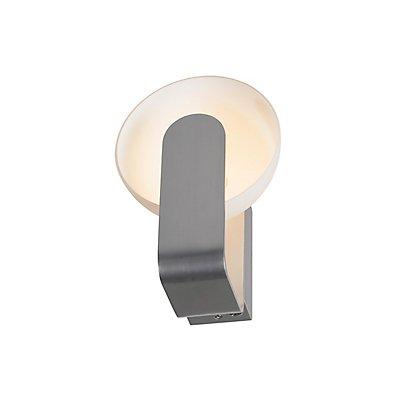 BRENDA, Wandleuchte, LED,weiss/ silber