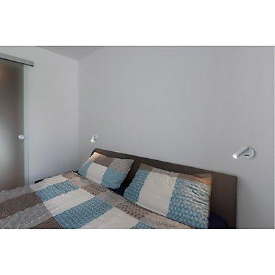 KARPO 30 Single Spot, Wand- u.Deckenleuchte, rund, schwarz,7,5W LED, 3000K, mit Schalter