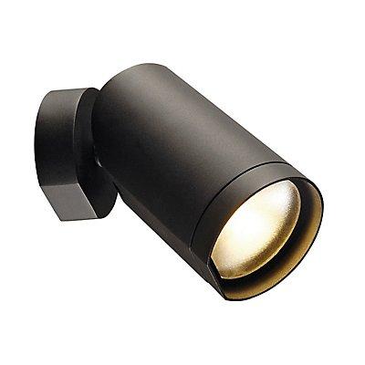 BILAS SPOT, single LED, rund,mattschwarz, 15W,25°, 2700K, mit Rosette