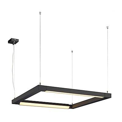 OPEN GRILL LED, Double Twist Pendelleuchte, eckig, schwarz