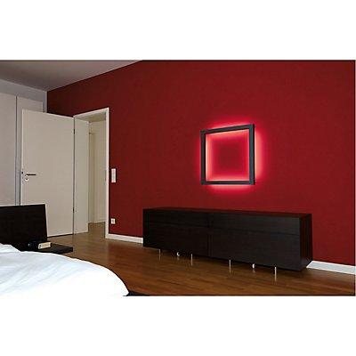 OPEN GRILL LED, Double Twist Wand- und Deckenleuchte, eckig