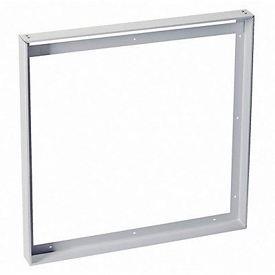 AUFBAURAHMEN, für I-VIDUAL LED-Panel, silbergrau, L/B 60,5/60,5 cm