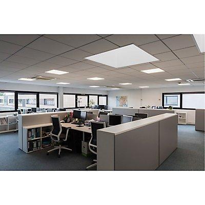 I-VIDUAL LED Panel für Rastedecken, 600x600mm, UGR<19,3000K, silber
