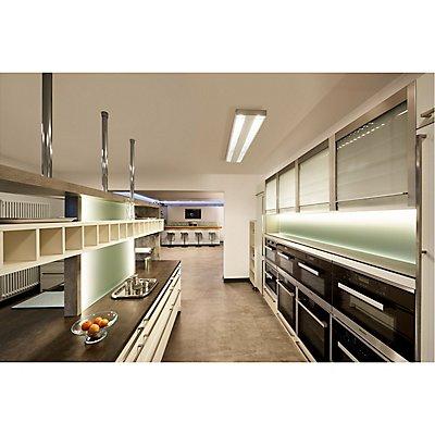 RASTO, Deckenleuchte, LED, 3000K, weiß, L/B/H 150,4/30,4/5,8 cm, 6400lm, zur Pendelleuchte umrüstbar