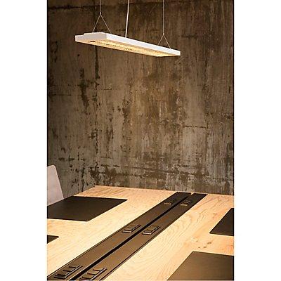 RASTO, Deckenleuchte, LED, 3000K, weiß, L/B/H 124,5/17,5/4 cm, 4100lm, zur Pendelleuchte umrüstbar, 36 W