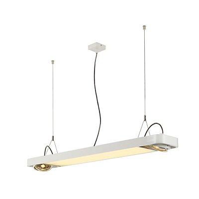 AIXLIGHT R2 OFFICE LED, Pendelleuchte, LED + 2xQPAR111, max. 75 Watt, 122,5cm