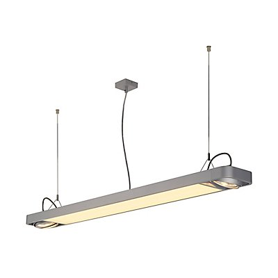 AIXLIGHT R2 OFFICE LED LONG, Pendelleuchte, LED + 2x QPAR111, max. 75 Watt, 153cm