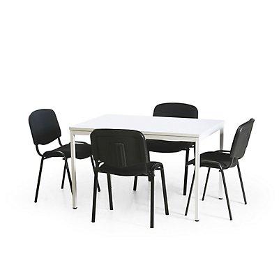 Protaurus Tisch-Stuhl-Kombination | Tisch + 4 Konferenzstühle
