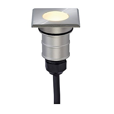 POWER TRAIL-LITE square,Edelstahl 316, 1W LED, 3000K,IP67
