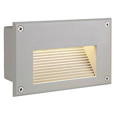 BRICK LED DOWNUNDERWandleuchte, rechteckig,silbergrau, weisse LED