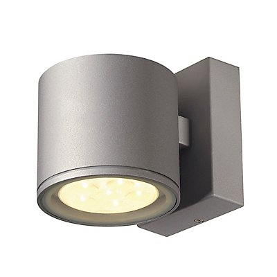SITRA 6x1W LED Wandleuchte,silbergrau, 3000K, IP44