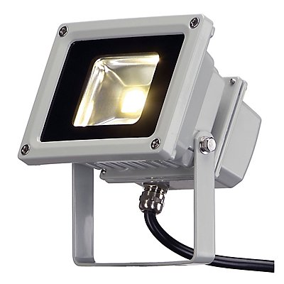 LED OUTDOOR BEAM, silbergrau,10W, weiss, 100°, IP65