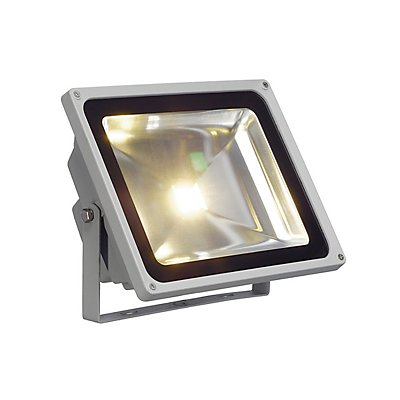 LED OUTDOOR BEAM, silbergrau,50W, weiss, 100°, IP65