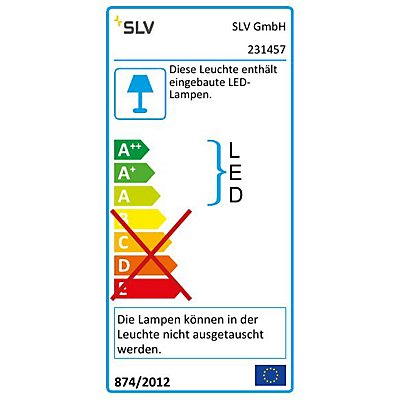 SLOTS 65 Stehleuchte,anthrazit,6,3 W LED warmweiss