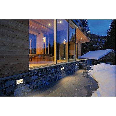 BRICK, Outdoor Wandeinbauleuchte, LED, 3000K, edelstahl, 230V, IP67, 850lm, 10W