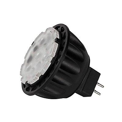 MR16, LED Leuchtmittel, 12V,GU5,3, 3000K, CRI90, einstell-barer Winkel, schwarz