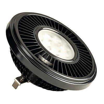 LED QRB111 Leuchtmittel,schwarz, 19,5W, 30°, 2700K,dimmbar