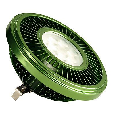 LED QRB111 Leuchtmittel,grün, 19,5W, 30°, 2700K,dimmbar