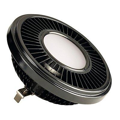 LED QRB111 Leuchtmittel,schwarz, 19,5W, 140°, 2700K,dimmbar