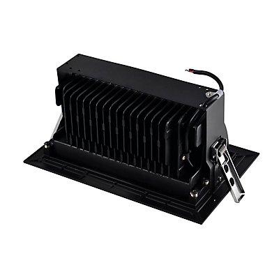 ALAMEA LED Deckeneinbauleuchte, schwarz, 3000K, 35W