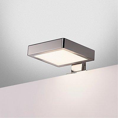 DORISA LED Spiegelleuchte, quadartisch, chrom,  4000K, IP44
