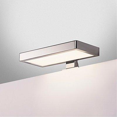 DORISA LED Spiegelleuchte, rechteckig, chrom,  4000K, IP44