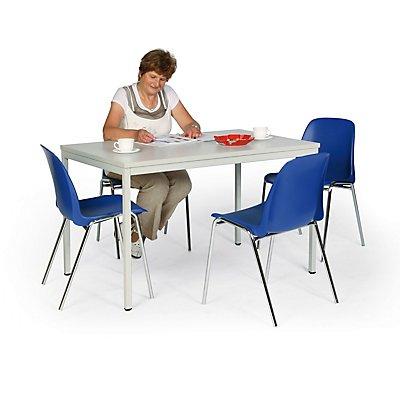 Protaurus Tisch-Stuhl-Kombination | Tisch + 4 Stapelstühle | Blau