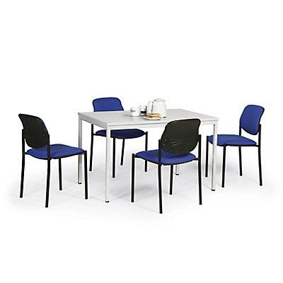 Protaurus Tisch-Stuhl-Kombination | Tisch + 4 Besucherstühle