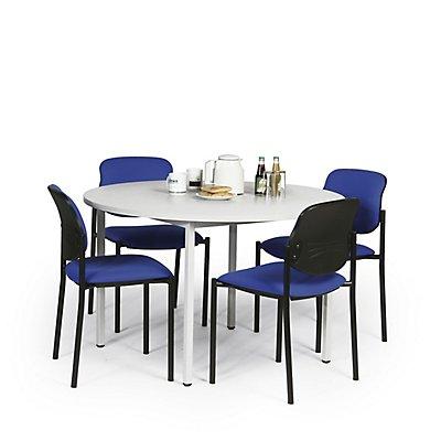 Protaurus Tisch-Stuhl-Kombination | Runder Tisch + 4 Besucherstühle