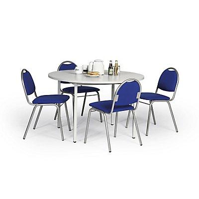 Protaurus Tisch-Stuhl-Kombination | Runder Tisch + 4 Besucherstühle Ariosa